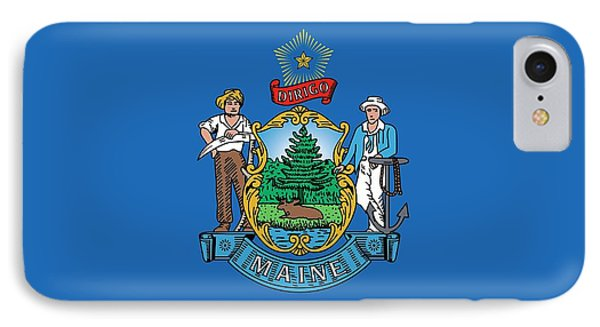 Maine State Flag IPhone Case by American School