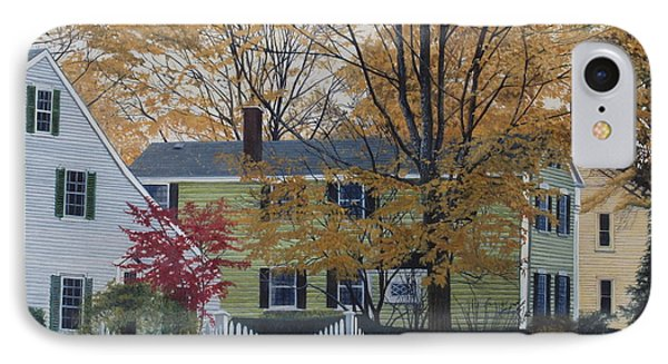 Autumn Day On Maine Street, Kennebunkport IPhone Case