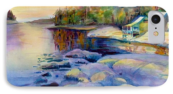 Maine Winter IPhone Case by Linda Emerson