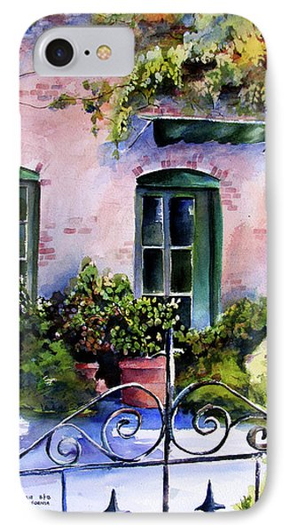 IPhone Case featuring the painting Maison Fleurie by Marti Green