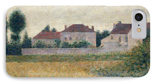 Maisons Blanches  IPhone Case by Georges Pierre Seurat