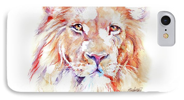 Majestic African Lion Phone Case by Stephie Butler