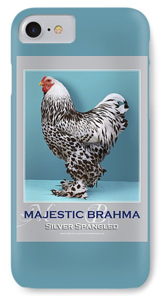 Majestic Brahma Silver Spangled IPhone Case