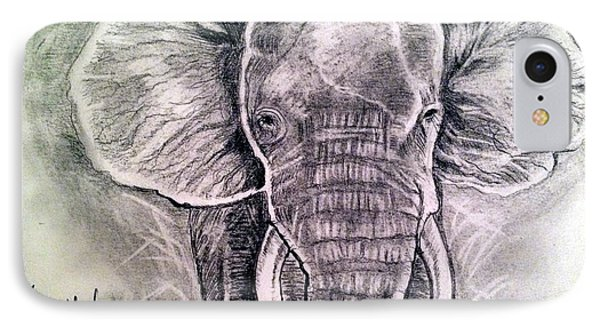 IPhone Case featuring the painting Majestic Elephant by Brindha Naveen