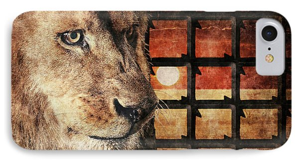 Majestic Lion In Captivity IPhone Case by Anton Kalinichev