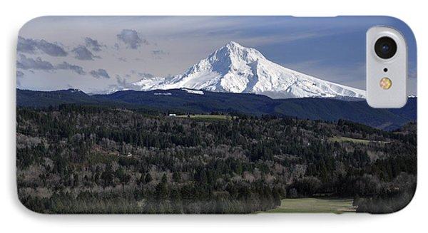 Majestic Mt Hood IPhone Case by Jim Walls PhotoArtist