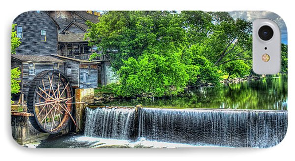 Majestic Old Mill Pigeon Forge Mill Great Smoky Mountains Art IPhone Case