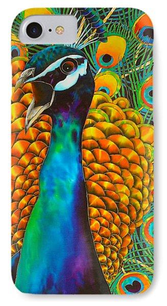 Majestic Peacock Phone Case by Daniel Jean-Baptiste