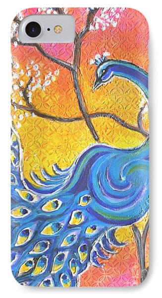 Majestic Peacock Colorful Textured Art IPhone Case