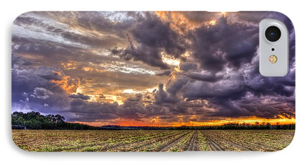 IPhone Case featuring the photograph Majestic Peanut Harvest Sunset Art by Reid Callaway