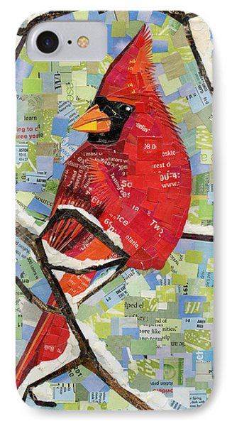 Majestic Red Cardinal  IPhone Case by Shawna Rowe