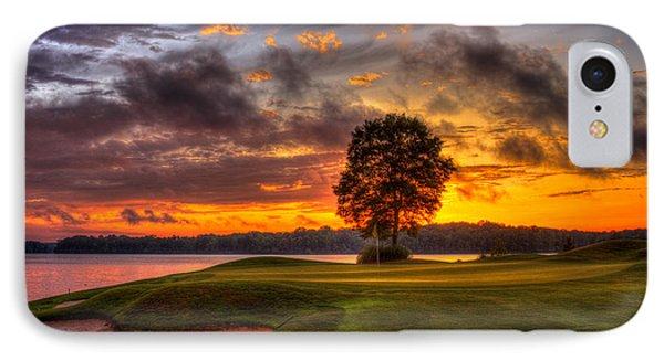 Majestic Sunset Golf The Landing Reynolds Plantation Lake Oconee Georgia IPhone Case by Reid Callaway