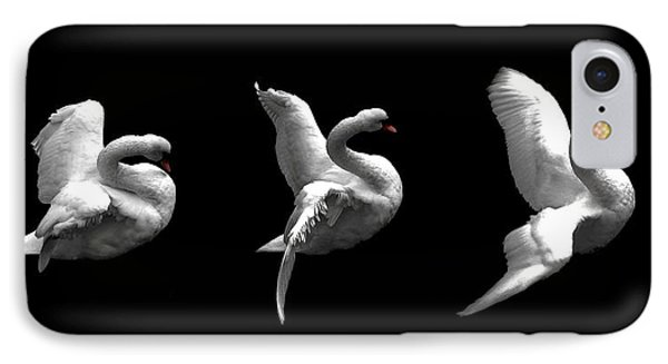 Majestic Swan Triptych IPhone Case by Dale   Ford