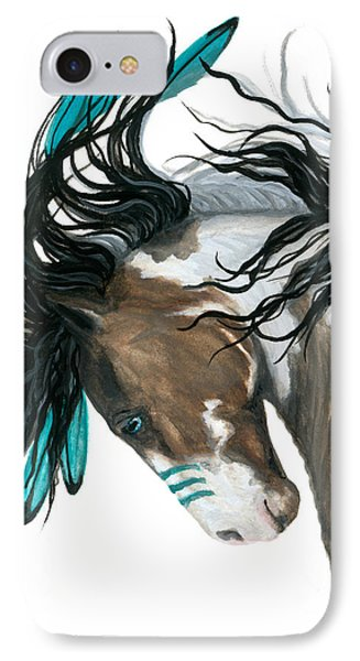 Horse iPhone 7 Case - Majestic Turquoise Horse by AmyLyn Bihrle