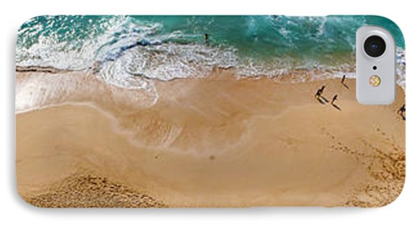 Makaha Beach Panorama IPhone Case by Rob Tullis