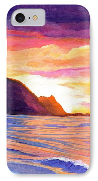 Makana Sunset IPhone Case by Marionette Taboniar