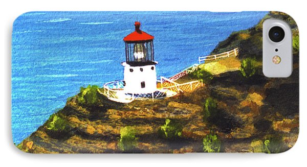 Makapuu Lighthouse #78, Phone Case by Donald k Hall