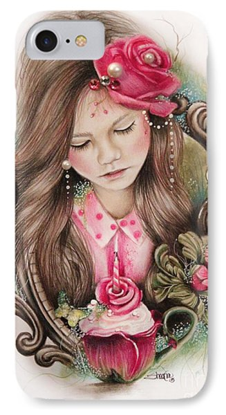 IPhone Case featuring the drawing Make A Wish  by Sheena Pike