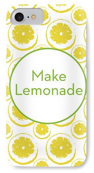 Make Lemonade 3- Art By Linda Woods IPhone Case by Linda Woods