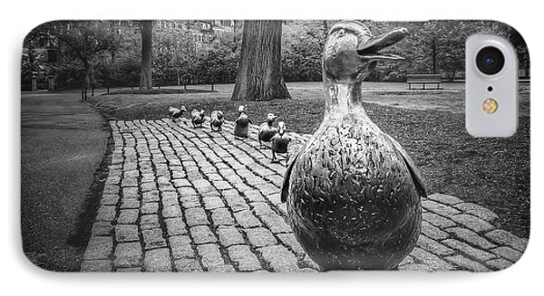 Make Way For Ducklings In Boston Black And White IPhone Case