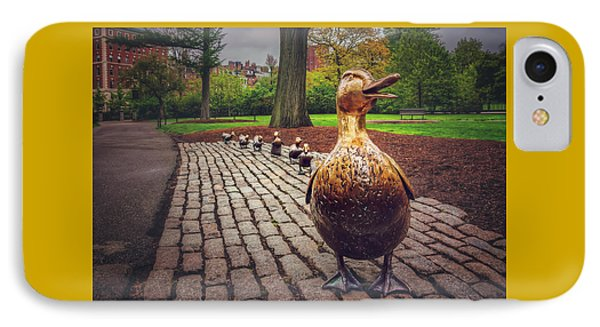 Make Way For Ducklings In Boston  IPhone Case by Carol Japp