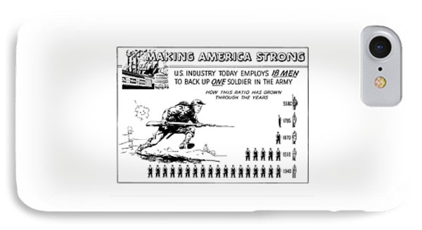 Making America Strong Cartoon IPhone Case