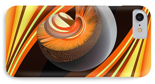 IPhone Case featuring the digital art Making Orange Planets by Angelina Vick