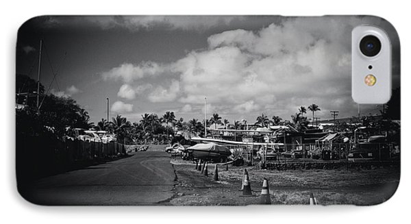 IPhone Case featuring the photograph Mala Wharf Ala Moana Street Lahaina Maui Hawaii by Sharon Mau