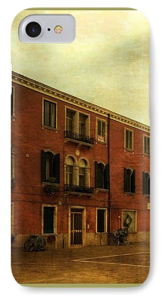 IPhone Case featuring the photograph Malamocco Piazza No1 by Anne Kotan