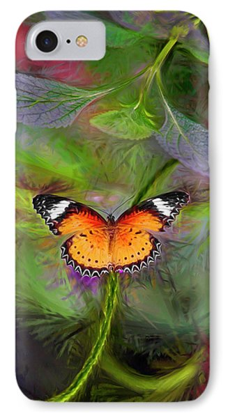 IPhone Case featuring the digital art Malay Lacewing  What A Great Place by James Steele