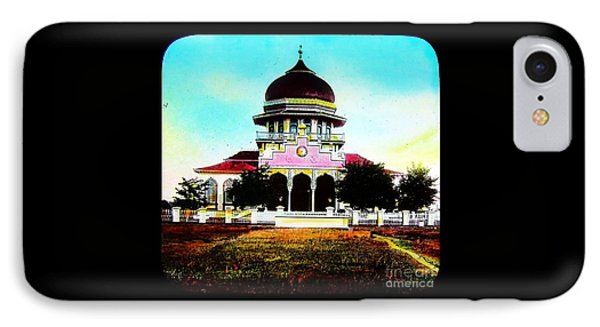 Malay Mosque Singapore Circa 1910 IPhone Case by Peter Gumaer Ogden