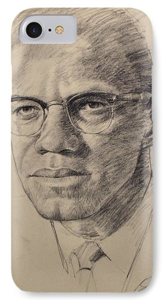 Malcolm X IPhone Case by Cliff Spohn