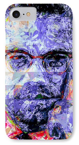 Malcolm X Digitally Painted 1 IPhone Case by David Haskett