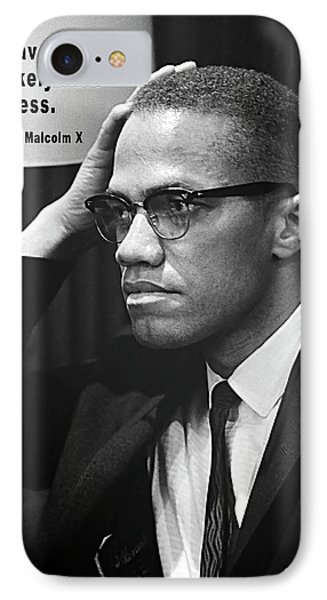 Malcolm X On Criticism IPhone Case by Daniel Hagerman
