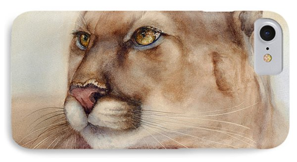Male Cougar IPhone Case by Bonnie Rinier
