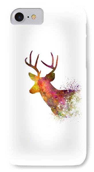 Male Deer 02 In Watercolor IPhone 7 Case by Pablo Romero