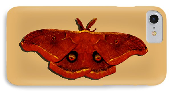 IPhone Case featuring the photograph Male Moth Red .png by Al Powell Photography USA
