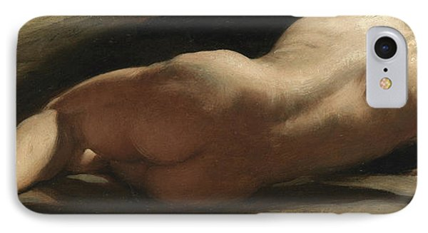 Male Nude IPhone Case by William Frederick Witherington