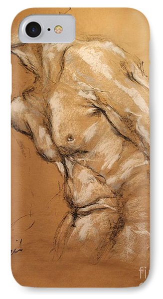 Male Torso IPhone Case by Debora Cardaci