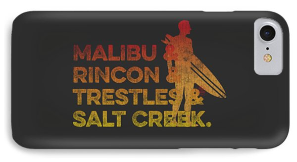 Malibu And Rincon And Trestles And Salt Creek 2 IPhone Case by SoCal Brand