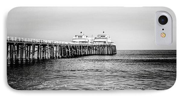 Malibu Pier Black And White Picture In Malibu California IPhone Case by Paul Velgos
