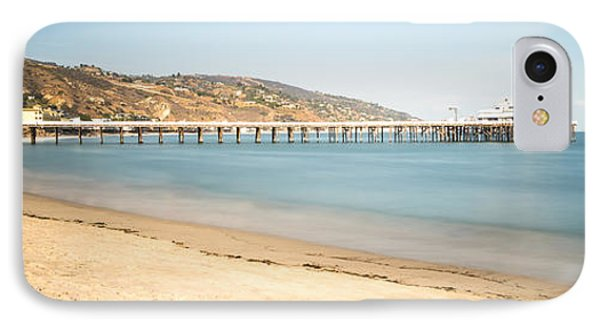 Malibu Pier Surfrider Beach Panorama Photo IPhone Case by Paul Velgos