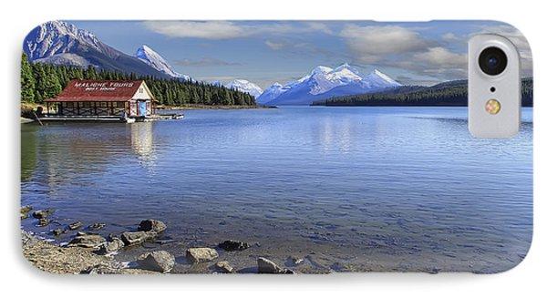 Maligne Lake -- Jasper Alberta Canada Phone Case by Daniel Hagerman