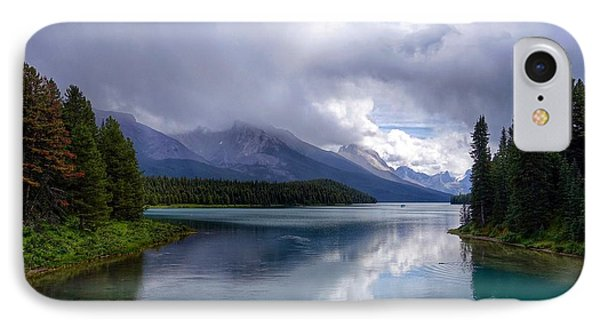 Maligne Lake IPhone Case by Heather Vopni