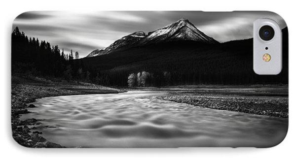 Maligne River Autumn IPhone Case by Dan Jurak