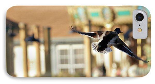 Mallard Duck And Carousel IPhone Case by Geraldine Scull