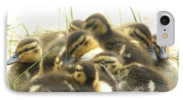 IPhone Case featuring the photograph Mallard Ducklings by Angie Rea
