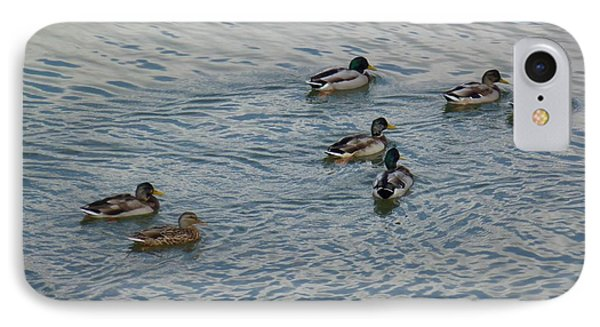Mallard Ducks In Pond 2 Phone Case by Jean Bernard Roussilhe