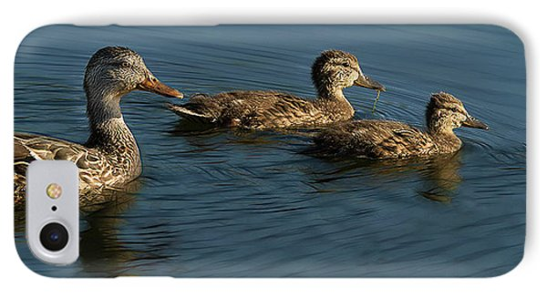 IPhone Case featuring the photograph Mallard Family Outing by Jean Noren