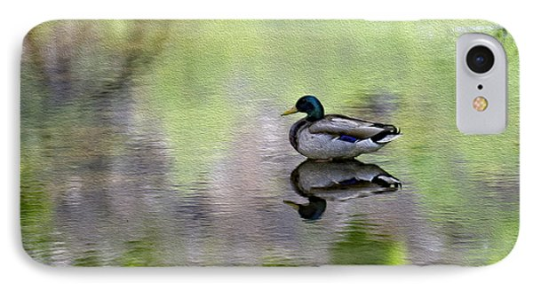 IPhone Case featuring the photograph Mallard In Mountain Water by Mark Myhaver